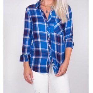 Rails Shirt Hunter Blue Plaid Size Small
